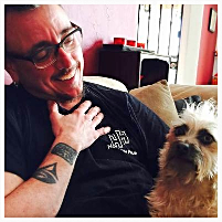 Rob Arbo and Milton the dog