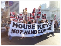 House Keys Not Handcuffs Rally